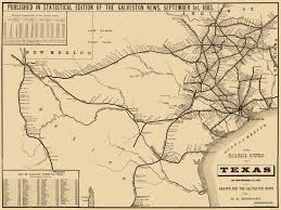 Old United States Map by Old Railroad Map Texas Railroad System 1883