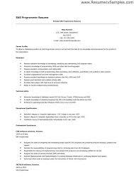 Entry Level Sas Programmer Resume Sas Programmer Resume Cbshow Co