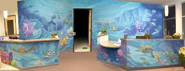 Lighthouse Cove Wall Mural Decor Place Wall Murals Lowry Pediatrics Lobby Mural Lobbies Doors And Window Coverings