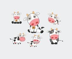 cute cartoon cow vector vector art u0026 graphics freevector com