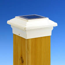 Solar Night Lights by Solar U0026 Led Deck Fence Dock Post Lights From Island Post Cap