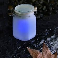 Colour Changing Solar Garden Lights - solar powered jam jar garden light