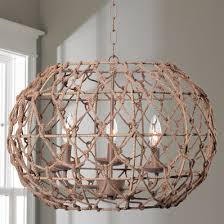 Nautical Rope Chandelier Boathouse Nautical Rope Sconce With Linen Shades Shades Of Light