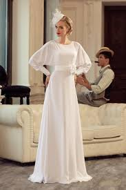 white vintage a line wedding dresses long sleeves designer relaxed