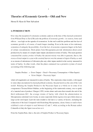 theories of economic growth old and new pdf download available