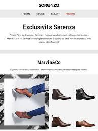 sarenza siege social sarenza exclusivités les nouveautés marvin co et mr sarenza