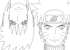 coloring naruto with sasuke anime coloring pages for kids free