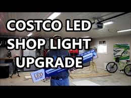 hardwired led shop lights upgraded to costco led shop lights in my garage youtube