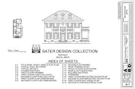 what is in a set of house plans sater design collection home plans