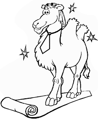 free animals camel printable colouring page for preschool