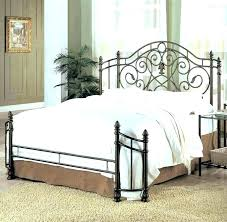 Black Wrought Iron Bed Frame Iron Headboards Wrought Iron Beds King Size Gumbodujourclub Rod
