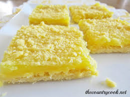 3 ingredient lemon crumble bars the country cook