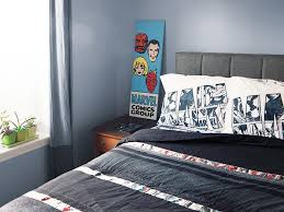 Marvel Double Duvet Cover Exclusive Marvel Avengers Stripe Sheet Set Thinkgeek