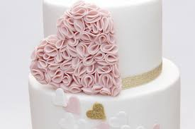 heart wedding cake ruffle heart wedding a wedding cake for a pastel and heart flickr