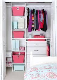 contemporary bedroom with teen closetmaid organizer ideas