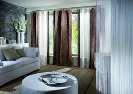 Modern Window Blinds And Shades - modern window treatment design comes with white sheer curtain also