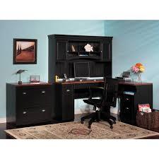 Bush Desk With Hutch Brilliant Black Computer Desk With Hutch Within Corner And