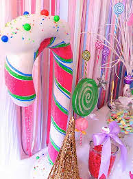 glittery christmas candy land sweet shop boy party planning