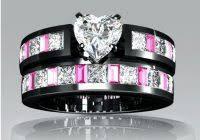 vancaro wedding rings vancaro black and pink wedding ring set