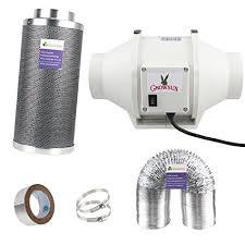 carbon filter fan combo 30 amazon com growsun 6 inch duct fan exhaust kit carbon filter fan