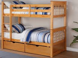 Bunk Bed Wooden Lovable Solid Wood Bunk Bed Deluxe Pine Wooden Bunk Beds In