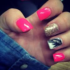 Ideas For Black Pink And Best 25 Acrylic Nail Designs Ideas On Pinterest Cream Nails