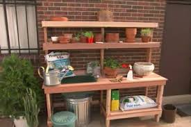 Garden Potting Bench Ideas How To Build A Garden Potting Bench Diy Projects