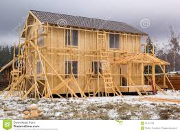 a frame house construction of a frame house stock photo image 51721738