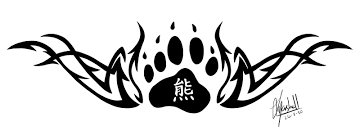 tribal bear paw tattoo design photos pictures and sketches