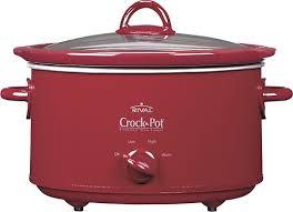 best crockpot deals black friday crock pot oval slow cooker red scv401 tr best buy
