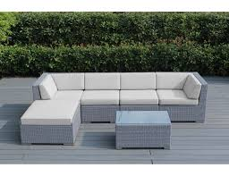Grey Wicker Patio Furniture by Sunbrella Natural White With Gray Wicker Ohana Wicker Furniture