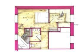 plan chambre a coucher salle de bain suite parentale 5 am233nagements merlin salle