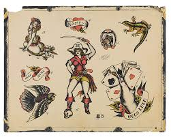 photo collection vintage tattoo flash by