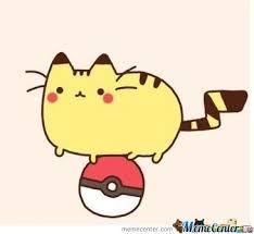 Pusheen Cat Meme - pikachu pusheen i choose you imgur