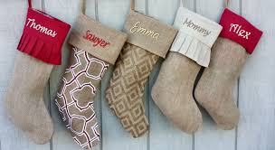 stockings elegant burlap christmas stockings print moroccan modern