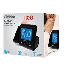 Clock That Shines Time On Ceiling by Electrohome Projection Alarm Clock With Am Fm Radio Battery