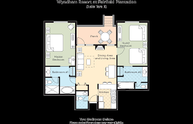 two bedroom rv floor plans club wyndham fairfield plantation resort
