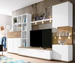 Wohnzimmerschrank Country Wohnwand Weiß Mit Holz Innovative Idee Von Innenarchitektur Und