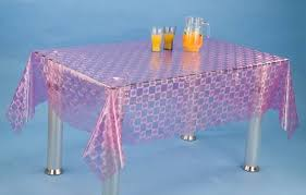 plastic table covers genuine joe rectangular table cover blue