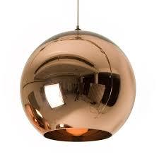 rund kobberlampe med spejleffekt inspiration pinterest tom dixon