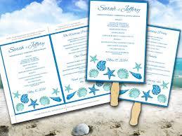 fan ceremony programs wedding fan microsoft word template blue lagoon teal