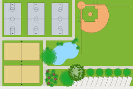 sport field plans solution conceptdraw com