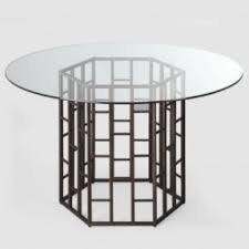 vintage glass top dining table glass top dining table with metal base hollywood thing