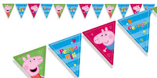 peppa pig bunting peppa pig games u0026 party supplies party ark
