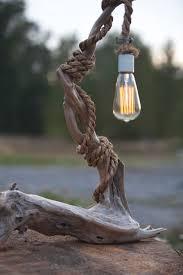driftwood lamp edison bulb porcelain socket manila house