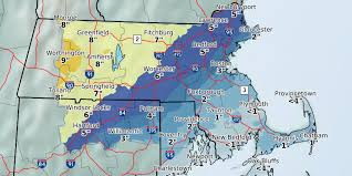 Snowfall Totals Map How Much Snow Will The North Shore Get On Wednesday Itemlive