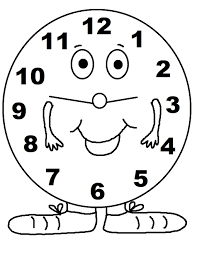 clock coloring page coloring pages for kids online 11143