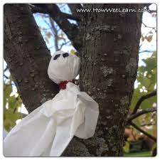 simple halloween crafts for kids tissue ghosts how wee learn