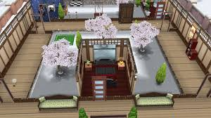 my sims free play traditional japanese winter escape bedroom