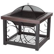 Allen Roth Fire Pit by Shop Fire Sense 28 5 In W Bronze Steel Wood Burning Fire Pit At